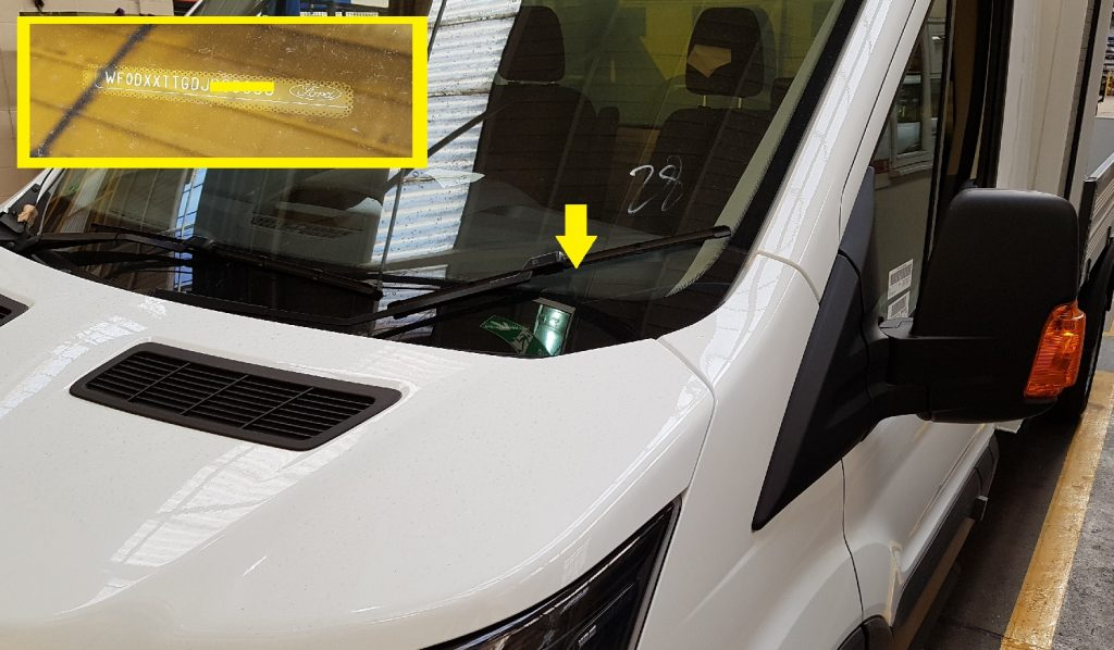 Where is Ford Chassis Number - Ford Transit - VFS Ltd