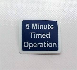 Decal - 5 Minute Timed Operation - VFS100-324 - VFS Ltd