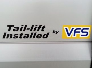 Decal - Tail-lift Installed - VFS100-349 - VFS Ltd