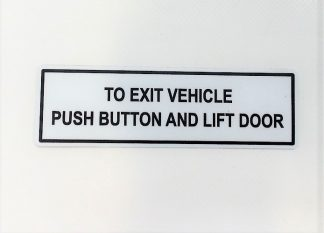 Decal - To Exit Vehicle Push - VFS100-317 - VFS Ltd