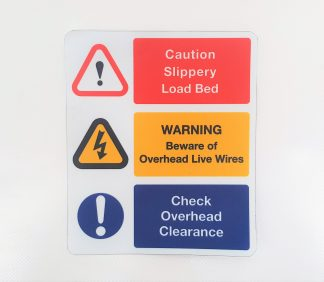 Decal - Caution Slippery Load Bed - VFS01-11-1463 - VFS Ltd