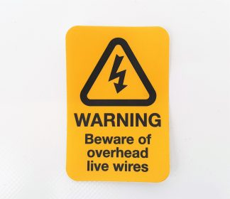 Decal - Headboard Beware of Overhead Live Wire - VFS01-11-0792 - VFS Ltd