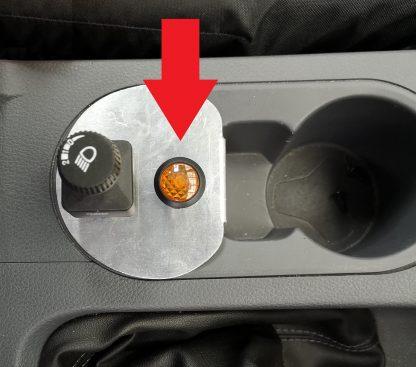 Amber LED Warning Light for 20mm diameter Panel Hole - VFSH12-0684