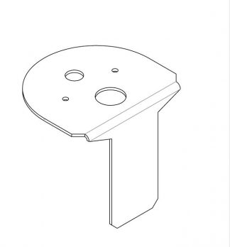 Bracket - Cup Holder Switch Mounting - Grey - VFS01-14-255-12