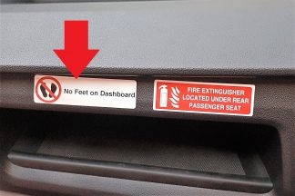 Decal - No Feet on Dashboard- VFS100-362