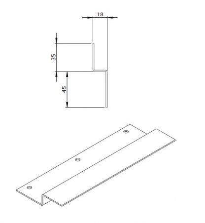 Bracket - Z Support - Pennant Plate - Roller Shutter Door - VFS98-99-0124-56